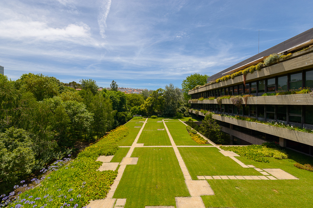 I giardini della Fondazione Gulbenkian a Lisbona