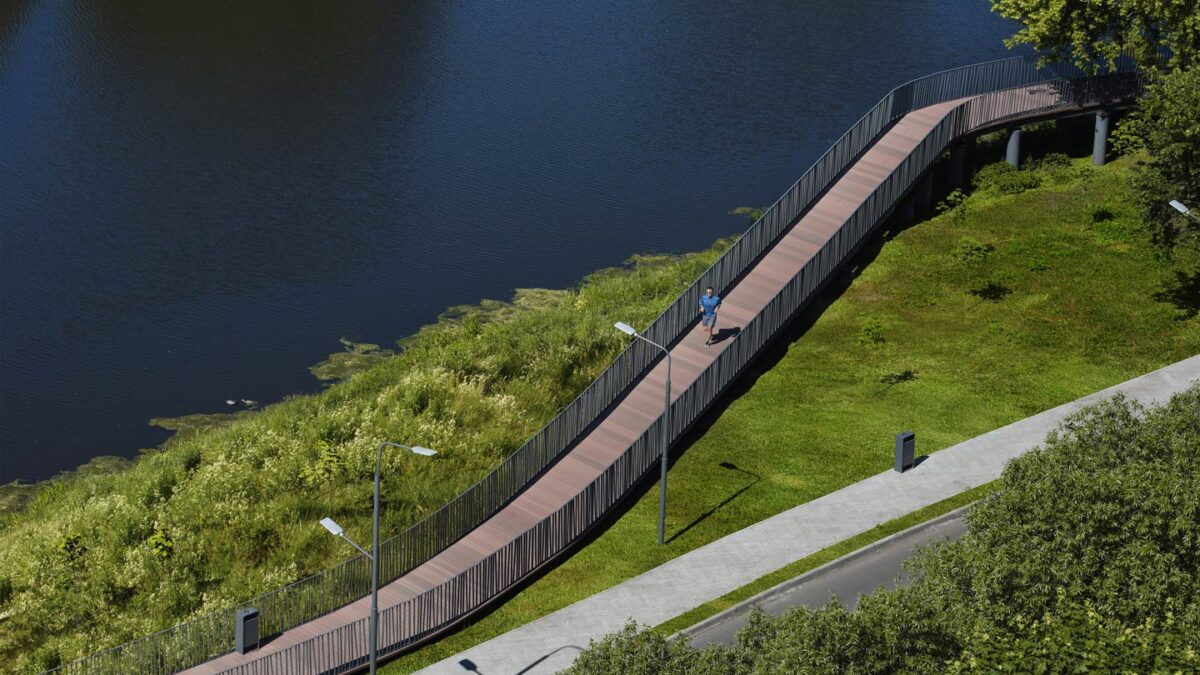 New embankment in Zhukovsky – Basis architectural bureau